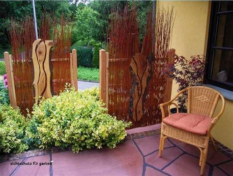 Glas Deko Für Garten by Deko Sichtschutz Garten