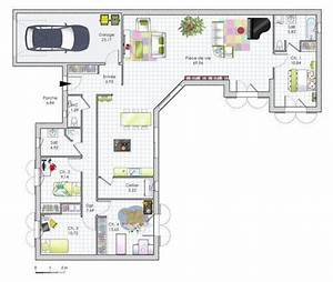 25 best ideas about plein pied on pinterest With plan de maison 100m2 plein pied