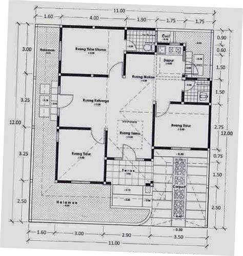 denah rumah ukuran    top rumah
