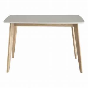 Table 6 Personnes : table manger blanche 4 6 personnes l120 mia maisons du monde ~ Teatrodelosmanantiales.com Idées de Décoration