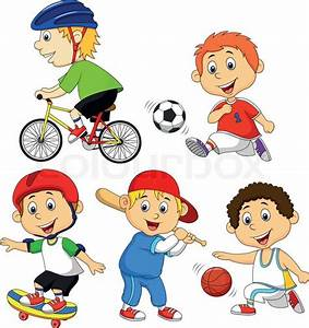 Sport clipart practice sport - Pencil and in color sport ...