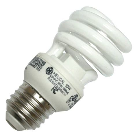 ge fluorescent light bulbs ge 72468 72468 fle10ht2 6h cwcd twist medium base