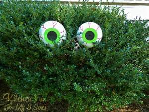 bush ideas dollar store spooky bush eyes outdoor craft cheap easy kitchen fun with my 3 sons