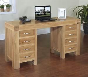 Rivermead Solid Modern Oak Furniture Large Office PC