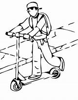 Scooter Coloring Pages Razor Template Things Happy Roll sketch template