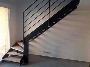 Escalier Quart Tournant Bas : escalier m tallique quart tournant bas avec palier s t a ~ Dailycaller-alerts.com Idées de Décoration