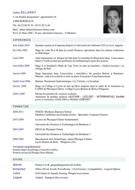 Conseil Rédaction Cv by Conseil Cv Faire Cv Jaoloron