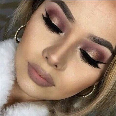 gold  burgundy makeup   pinterest