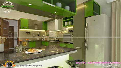 tv room living bedroom kitchen interior kerala home