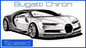 Desenhando Bugatti Chiron (O carro mais rápido do mundo ...