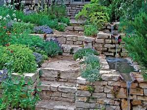 Gartengestaltung Mit Natursteinen : hangg rten gartengestaltung dekoration gartenpraxis mein garten ~ Markanthonyermac.com Haus und Dekorationen