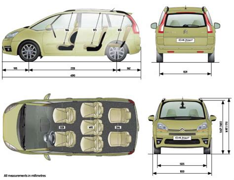 dimension grand c4 picasso locations de vehicule voitures dimension c4 picasso 2007