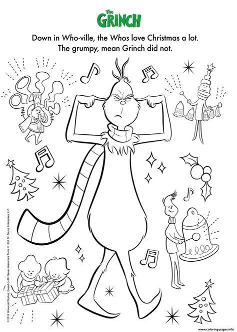 illumination  grinch coloring pages printable