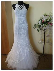 white crochet wedding dress for summer39s day dressespic 2013 With crocheted wedding dress