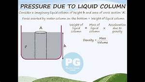 Pressure Due To Liquid Column  Ga M-fld06