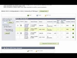 How to Register for Classes from Your Backpack - YouTube