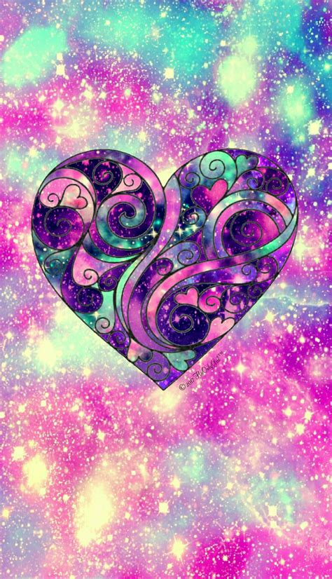 sweetheart galaxy wallpaper  created   app cocoppa