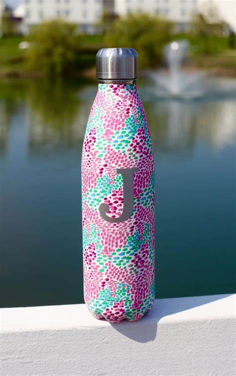 floral stainless steel water bottle  flew  nest
