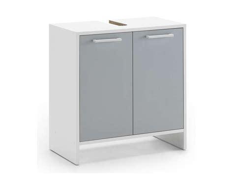 meuble sous lavabo conforama meuble sous lavabo dakota coloris blanc gris vente de meuble et rangement conforama