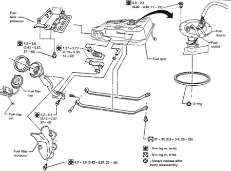 how petrol cars work 1993 nissan quest parking system repair guides fuel tank removal installation autozone com