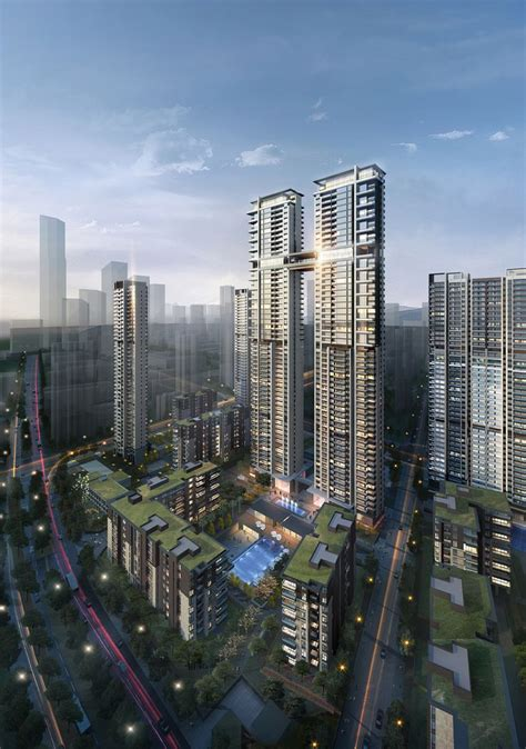 200m Luxury Residential Twin Towers In Wuhan China A