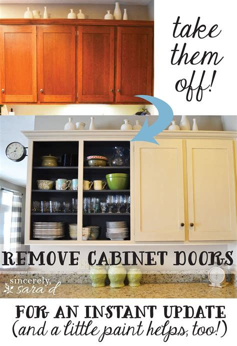 remove kitchen cabinet doors remove cabinet doors instant kitchen update do it 4703