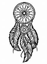 Feathers Dreamcatcher Coloring Dreamcatchers Pages Adult sketch template