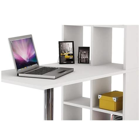computer desk with bookcase cleveland computer desk in white with bookcase 28455