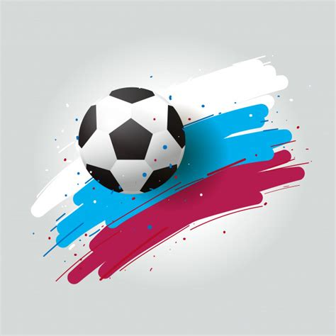 foto de Calcio 2018 pallone da calcio e pennello da sfondo a tre