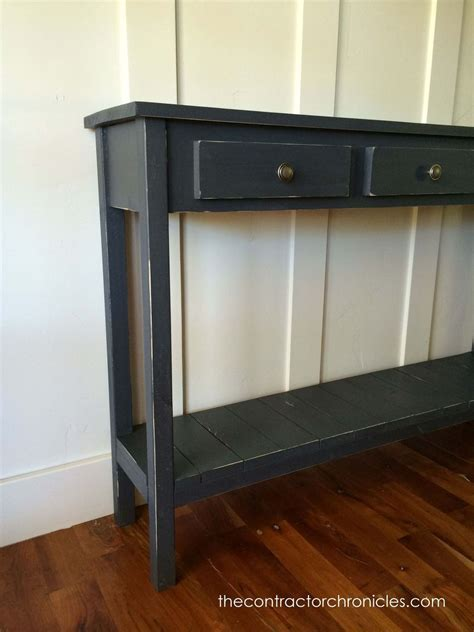 Hometalk   Faux Drawer Farmhouse Console Table