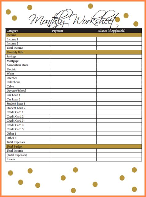 credit card budget spreadsheet excel spreadsheets group