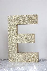 2 8quot glitter letter glittered gold silver free standing With silver standing letters