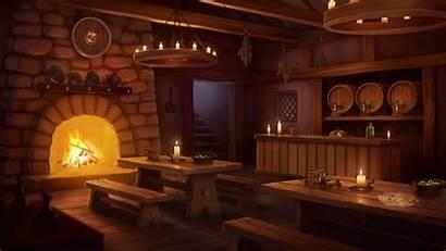Tavern Fantasy Interior Inn Medieval Concept Backgrounds