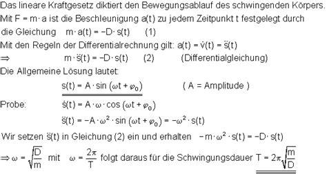 oberstufenphysik harmonische schwingungen