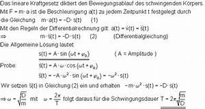 Amplitude Berechnen : oberstufenphysik harmonische schwingungen ~ Themetempest.com Abrechnung