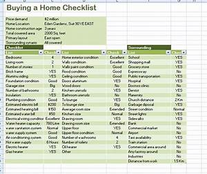 Professional home buying checklist template formal word for House buying checklist template