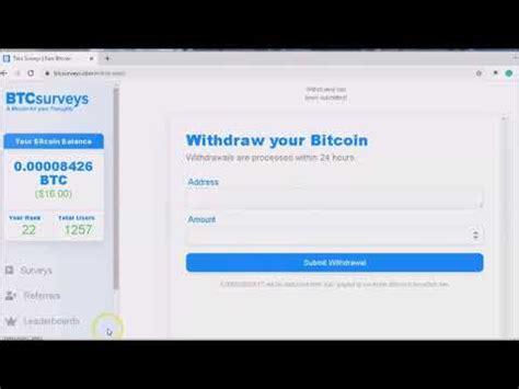 Earn bitcoin for viewing website. Earn Bitcoin / Take Surveys / BTC Surveys - YouTube