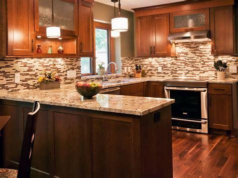 brown kitchen backsplash hgtv kitchens kitchen design