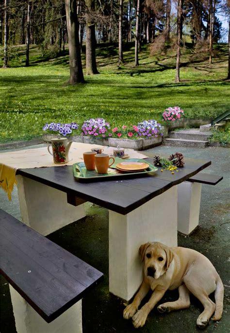 brico mobili da giardino costruire un tavolo da giardino bricoportale fai da te