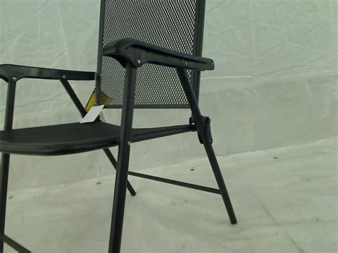 courtyard creations fls080 folding steel mesh patio chair