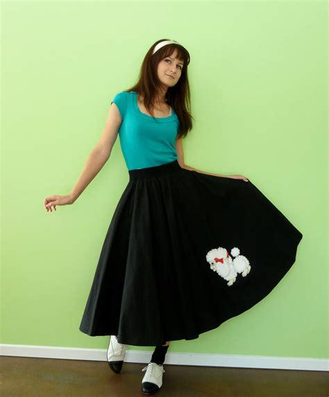 poodle skirt vintage  sock hop costume black