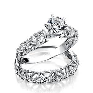 cz wedding ring sets 925 silver vintage 75ct cz engagement wedding ring set