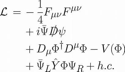 Standard Formula Physics Particle Lagrangian Force Line