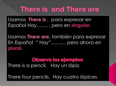 There Is And There Are