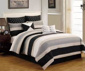 8 piece preston black and gray comforter set