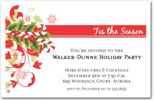 candy cane and swirls holiday invitations christmas invitations