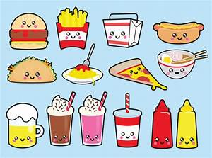 Food clipart junk food - Pencil and in color food clipart ...