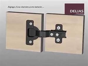 Comment Poser Une Charnière Plate : r glage charni re porte battante de meuble youtube ~ Dailycaller-alerts.com Idées de Décoration
