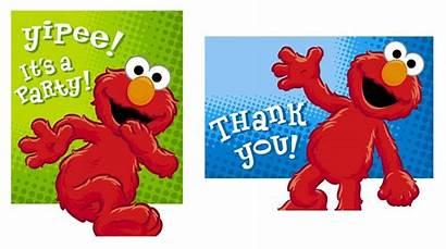 Elmo Clip Clipart Birthday Printable Wallpapers Thank