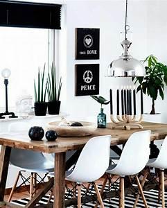 voici la salle a manger contemporaine en 62 photos With meuble salle À manger avec chaise blanche en bois
